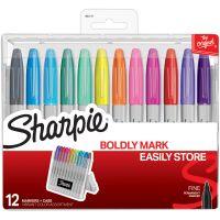 Sharpie Permanent Markers W/Hardcase 12/Pkg NOTM417646