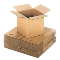 General Supply Brown Corrugated - Cubed Fixed-Depth Shipping Boxes, 12l x 12w x 12h, 25/Bundle UFS121212