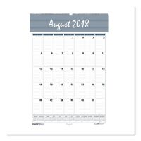 House of Doolittle Recycled Bar Harbor Wirebound Academic Monthly Wall Calendar, 15.5x22, 2018-2019 HOD353