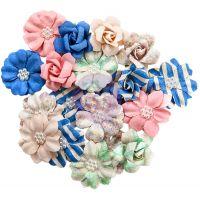 Santorini Mulberry Paper Flowers 20/Pkg NOTM467037