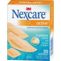 Nexcare Active Waterproof Bandages, 30 ct. Assorted MMM51630PB