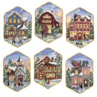 Dimensions Gold Collection Christmas Village Ornaments Counted Cross Stitch Kit NOTM324386
