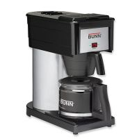 BUNN 10-Cup Velocity Brew BX Coffee Brewer, Black, Stainless Steel BUNBXB