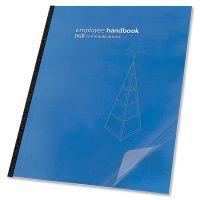 Swingline GBC Clear View Presentation Binding System Cover, 11-1/4 x 8-3/4, Clear, 100/Box SWI2000036