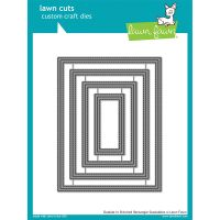 Lawn Cuts Outside In Stitched Rectangle Stackables Custom Craft Die NOTM442984