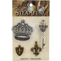 Steampunk Metal Accents 4/Pkg NOTM336083