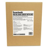 Boardwalk Oil-Based Sweeping Compound, Grit, Red, 50lbs, Box BWKA1COHORED