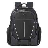 "Solo Active Laptop Backpack, 17.3"", 12 1/2 x 6 1/2 x 19, Black USLACV7004"
