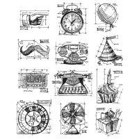 "Tim Holtz Cling Rubber Stamp Set 7""X8.5"" NOTM036454"