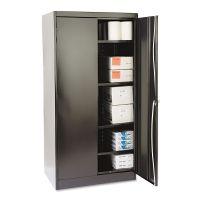 "Tennsco 72"" High Standard Cabinet, 36w x 24d x 72h, Black TNN1480BK"