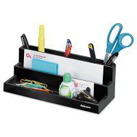 Fellowes Designer Suites Desktop Organizer, 11 1/8 x 5 x 3 7/8, Black Pearl FEL8038901