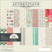 """Authentique Double-Sided Cardstock Pad 6""""X6"""" 24/Pkg NOTM091960"""