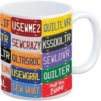 K1C2 Quilt Happy Mug 11oz NOTM076294