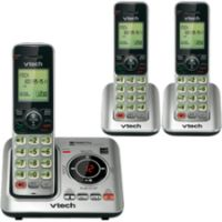 VTech CS6629-3 DECT 6.0 Expandable Cordless Phone with Answering System and Caller ID/Call Waiting, Silver with 3 Handsets SYNX3728638