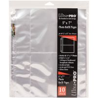 """8.5""""X11"""" 3 Hole Refill Pages Holds 40 5""""X7"""" Photos NOTM090521"""