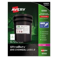 Avery GHS Chemical Waterproof & UV Resistent Labels, Laser, 4.75 x 7.75,100/Box AVE60502