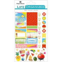 "Paper House Life Organized Planner Stickers 4.5""X7.5"" NOTM529168"
