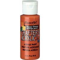 Deco Art Crafter's Acrylic Poppy Orange Acrylic Paint NOTM227128