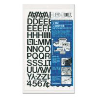 """Chartpak Press-On Vinyl Letters & Numbers, Self Adhesive, Black, 3/4""""h, 94/Pack CHA01020"""