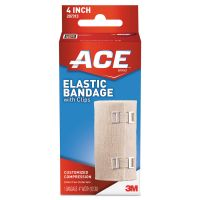 "ACE Elastic Bandage with E-Z Clips, 4"" x 64"" MMM207313"