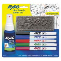 EXPO Low-Odor Dry-Erase Marker Starter Set, Ultra Fine, Assorted, 5/Set SAN1884310