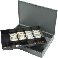Sparco All-Steel Locking Cash Box with Tray SPR15500