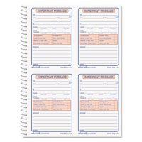 Universal Wirebound Message Books, 5 1/2 x 3 3/16, Two-Part Carbonless, 200-Set Book UNV48005
