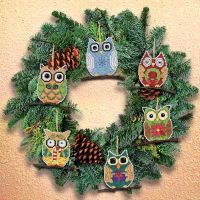 Janlynn Owl Ornaments Counted Cross Stitch Kit NOTM051319
