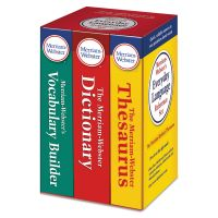 Merriam Webster Everyday Language Reference Set, Dictionary, Thesaurus, Vocabulary Builder MER3328