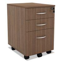 Alera Sedina Series Mobile B/B/F Pedestal, 15 3/8 x 20 x 26 5/8, Modern Walnut ALESE531620WA