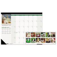 House of Doolittle Recycled Puppies Photographic Monthly Desk Pad Calendar, 22 x 17, 2019 HOD199