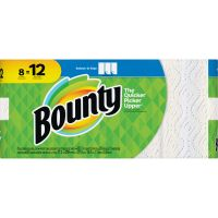 Bounty Select-a-Size Paper Towels, 5.9 x 11, 2-Ply, White, 83 Sheets/Roll, 8 Rolls/Carton PGC74728