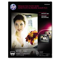 HP Premium Plus Photo Paper, 80 lbs., Glossy, 8-1/2 x 11, 50 Sheets/Pack HEWCR664A