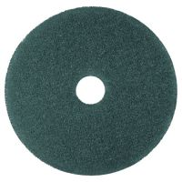 "3M Cleaner Floor Pad 5300, 20"" Diameter, Blue, 5/Carton MMM08413"