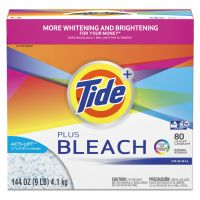 Tide Laundry Detergent with Bleach, Tide Original Scent, Powder, 144 oz Box, 2/Carton PGC84998CT