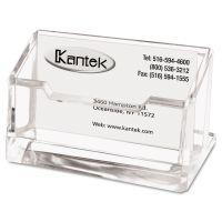 Kantek Acrylic Business Card Holder, Capacity 80 Cards, Clear KTKAD30