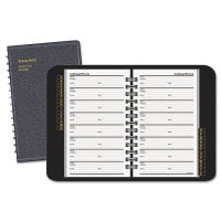 AT-A-GLANCE Telephone/Address Book, 4-7/8 x 8, Black AAG8001105