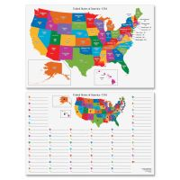 Pacon Dry Erase Learning Board Maps PAC2206