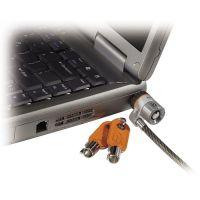 Kensington Laptop Computer Microsaver Security Cable w/Lock, White Cable, Two Keys KMW64068
