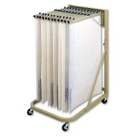 Safco Steel Sheet File Mobile Rack, 12 Pivot Brackets, 27w x 37 1/2d x 61 1/2h, Sand SAF5026