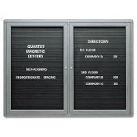 Quartet Enclosed Magnetic Directory, 48 x 36, Black Surface, Graphite Aluminum Frame QRT2964LM