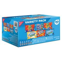 Nabisco Mini Snack Packs, 1 oz, Variety Pack, 40 per Carton NFG827558