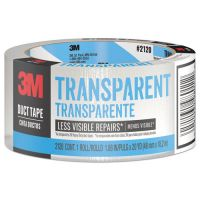 "Scotch Tough Duct Tape - Transparent, 1.88"" x 20yds, Clear MMM2120C"