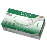 Curad 3G Synthetic Vinyl Exam Gloves, Powder-Free, Large, 100/Box MII6CUR8236