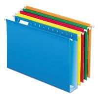 "Pendaflex Reinforced 2"" Extra Capacity Hanging Folders, 1/5 Tab, Legal, Assorted, 25/Box PFX4153X2ASST"