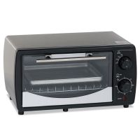 Avanti Toaster Oven, 0.32 cu ft Capacity, Stainless Steel/Black, 14 1/2 x 11 1/2 x 8 AVAPOW31B