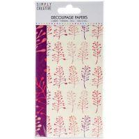 Simply Creative Decoupage Paper 18.8cm X 35cm 4/Pkg NOTM336601