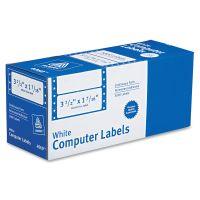 Avery Dot Matrix Mailing Labels, 1 Across, 1 7/16 x 3 1/2, White, 5000/Box AVE4060