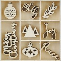 Themed Mini Wooden Flourishes 40/Pkg NOTM035459