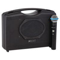 AmpliVox Bluetooth Audio Portable Buddy with Wireless Handheld Mic, 50W, Black APLSW223A
